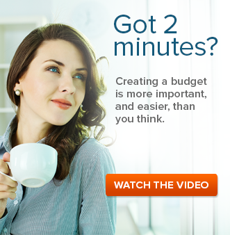 Got 2 minutes? Creating a budget is more important, and easier, than you think. Watch The Video. Image: woman holding mug